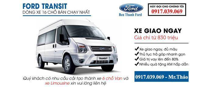 Bến Thành Ford Sài Gòn Giảm giá xe mới Ford Transit