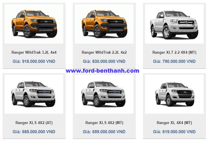 bảng giá xe ford ranger 2017 danh gia xe ford ranger tai viet nam ford Bảng Giá Xe Ford Ranger 2018 - Ford Bình Phước ben thanh