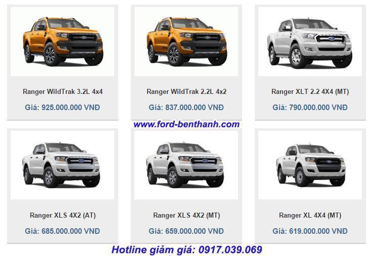 bang-gia-xe-ford-ranger-2017-ben-thanh-ford-truong-chinh