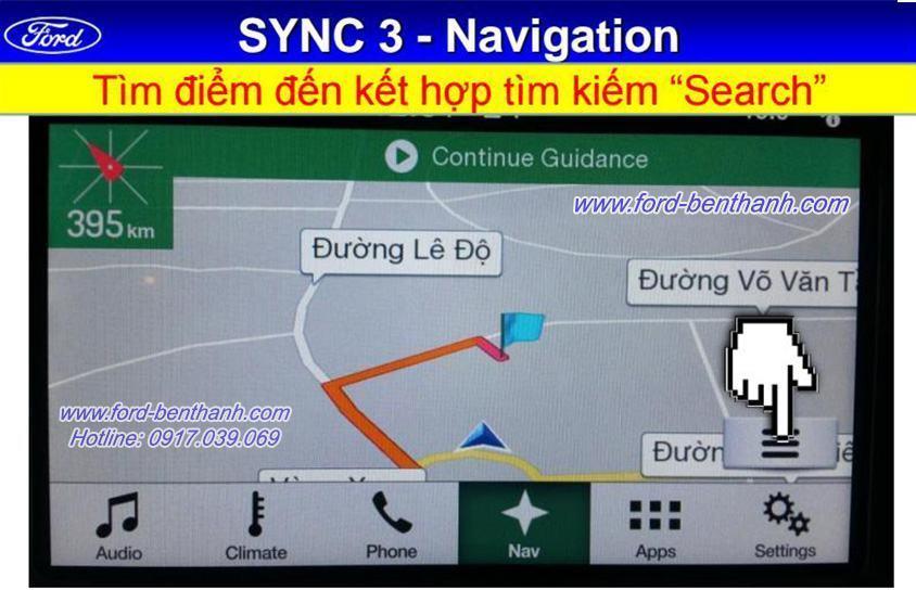 Hệ Thống Sync 3 Navigation Trên Ford Ranger