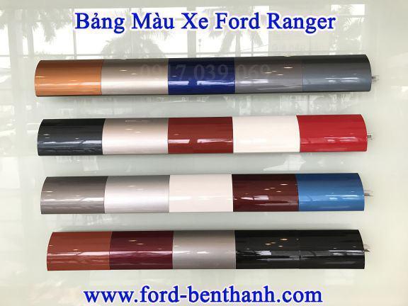 Bảng Màu Xe Ford Ranger Tại Bến Thành Ford Sài Gòn