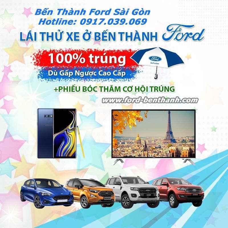 Lái Thử Xe Ford Tháng 3/2019 Tại Bến Thành Ford Sài Gòn