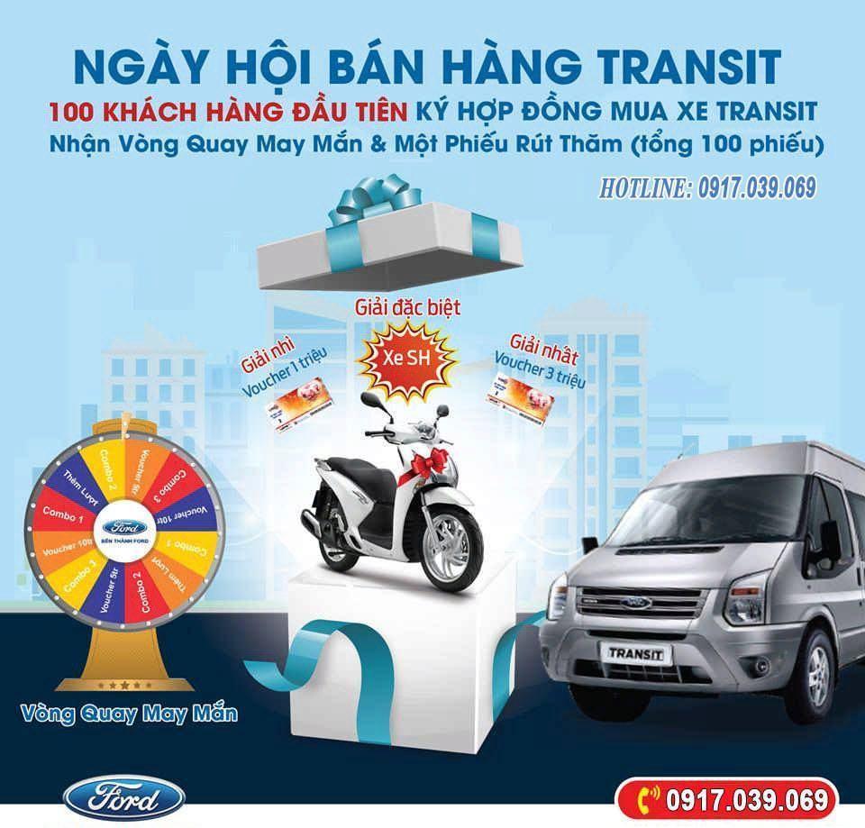 Mua Xe Ford Transit 2019 Trúng Honda SH